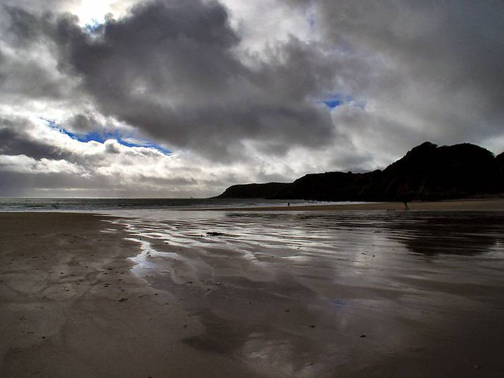Stormy Clouds over Caswell Bay